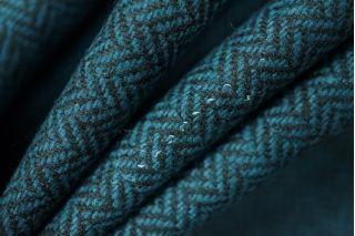 Твид елочка темно-бирюзовый PRT-O3 18011923
