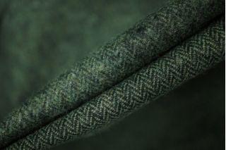 Костюмный хлопок елочка зеленая PRT-N2 210106
