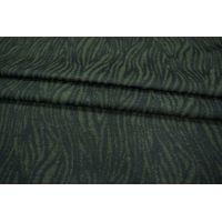 ОТРЕЗ 1,95 М Шерсть фактурная зеленая под зебру PRT-O4 210108-1