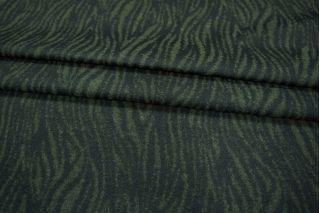Шерсть фактурная зеленая под зебру PRT-O4 210108
