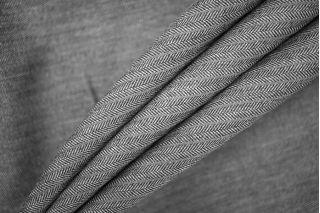 Костюмная шерсть серая елочка в полоску PRT-H2 12071938