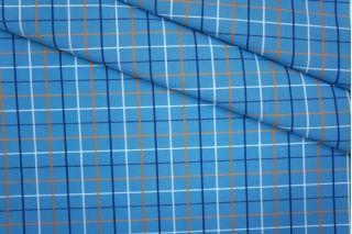 Рубашечный хлопок тонкий в клетку голубой PRT-B3 10061917