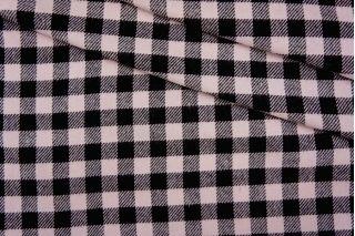 Плательный хлопок в клетку черно-розовый PRT-C5 10061944