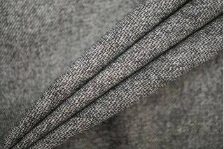 Твид шерстяной черно-серый PRT J4 13071931