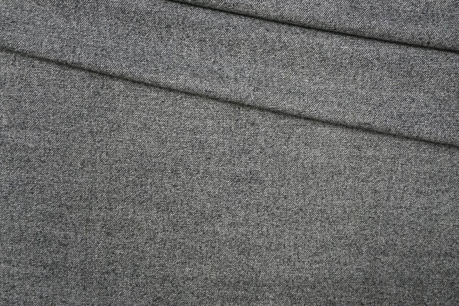 Твид шерстяной черно-серый PRT-Е5 13071931