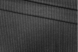 Твид шерстяной темно-серый в полоску PRT-I6 13071938