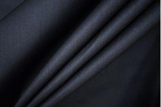 Тонкая костюмно-плательная шерсть с вискозой черно-синяя PRT-E4 13071916