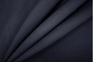 Тонкая костюмно-плательная шерсть темно-синяя PRT- 126 H4  13071920