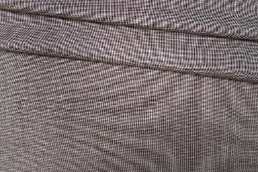 Тонкая костюмная шерсть бело-коричневая PRT-G2 13071929