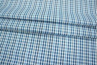 Рубашечный хлопок в клетку голубой Fendi PRT-H4 10121808