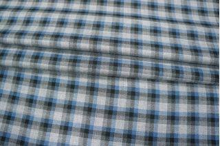 Рубашечный хлопок в клетку серо-голубой PRT-H4 10121820