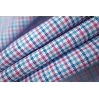 ОТРЕЗ 1,5 М Рубашечный хлопок в клетку розово-голубой PRT-E4 10121821-1
