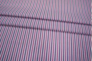 Рубашечный хлопок в полоску фуксия+фиолетовый PRT-H4 10121829