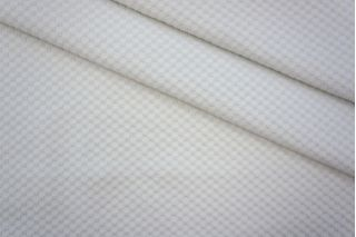 ОТРЕЗ 0.8 М Трикотаж фактурный квадратики белый PRT 05061813-1