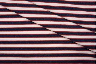 Тонкий трикотаж в полоску сине-розовый с люрексом PRT 05061815