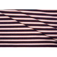 ОТРЕЗ 1,25 М Тонкий трикотаж в полоску сине-розовый с люрексом PRT 05061815-1