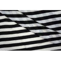 Тонкий трикотаж  в полоску черно-белый PRT-D6 24041934