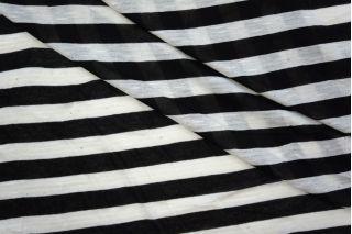 Тонкий трикотаж  в полоску черно-белый PRT-N4 24041934