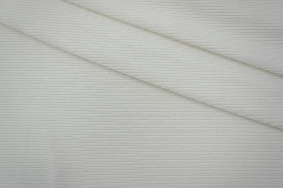 Плательный трикотаж хлопковый белый PRT-O3 25041901