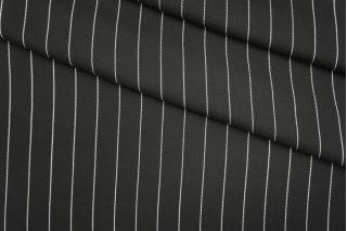 Плательная вискоза черная в полоску PRT-N3 25041919