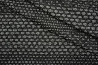 Трикотаж фактурный черно-серый PRT 26041918