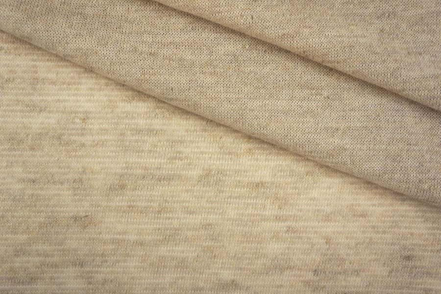 ОТРЕЗ 1 М Трикотаж бежевый хлопок со льном PRT-O5 23041923-1