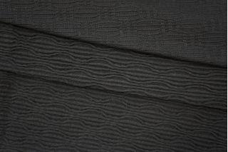Трикотаж фактурный черный PRT 23041932