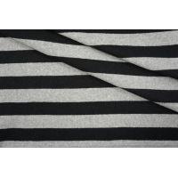 Трикотаж хлопковый в полоску серо-черный PRT-O2 23041943