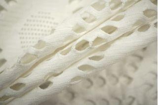 Трикотаж вискозный ажурный белый PRT 24041902