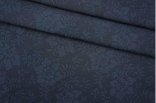Костюмная поливискоза цветы темно-синяя PRT-M2 24041920