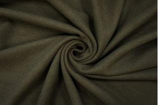 Пальтовый шерстяной велюр темный хаки PRT-B2 09081903