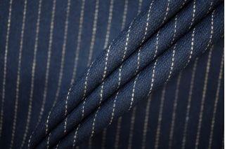 Твид шерстяной темно-синий в полоску PRT-G2 09081918