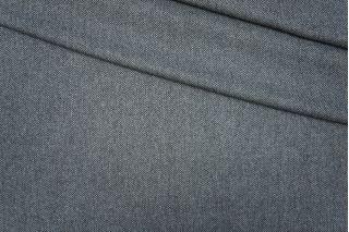 Твид елочка черно-голубой PRT-E3 09081921
