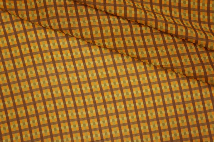Батист хлопок с шелком клетка PRT-G2 11061908
