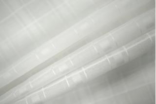 Батист белый в клетку PRT-H4 27021901