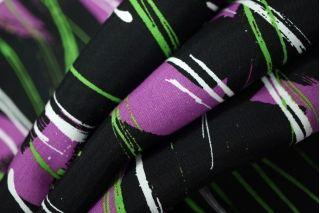 Плательная вискоза мазки на черном PRT-H5 04031908