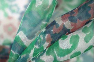 Шифон шелковый цветы PRT-Н3 04031913
