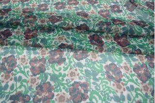 Шифон шелковый цветы PRT-O50 04031913