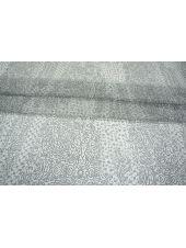Шифон шелковый орнамент серо-белый PRT-H3 04031914