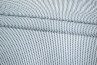 Рубашечный хлопок белый с синим узором PRT-B3 06031909
