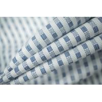 ОТРЕЗ 2,4 М Рубашечный хлопок белый с синим узором PRT-B3 06031909-1