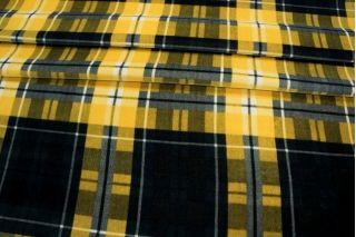 Велюр хлопковый клетка черно-желтая PRT-E3 06031918