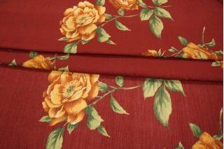 Марлевка в цветок бордо PRT-B3 04021901