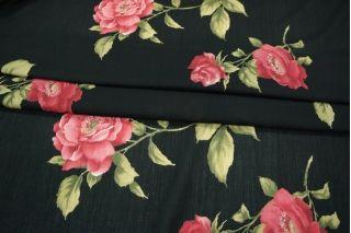 Марлевка в цветок черная PRT-B3 04021902