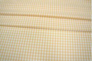 Рубашечный хлопок в клетку желто-белый PRT-B3 06031927
