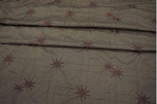 Полиэстер коричневый с вышивкой PRT 11031904
