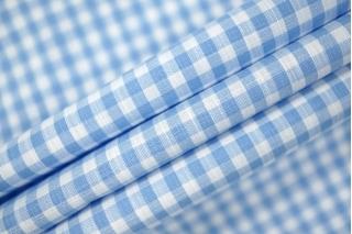 Рубашечный хлопок в клетку бело-голубой PRT-H4 06031928