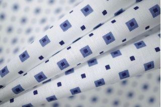 Рубашечный поплин белый в квадрат PRT-B3 11031906
