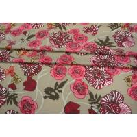 Батист бежевый цветы PRT-B4 11031910