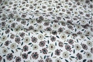 Плательный лен в цветочек PRT-G5 11031911